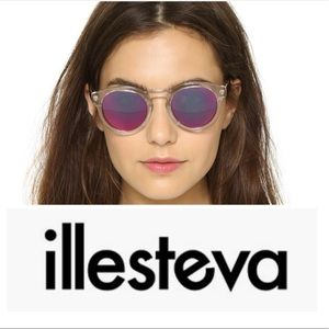 Illesteva Pink Mirrored Sunglasses